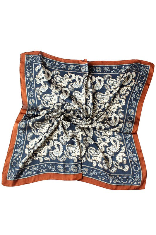 PAISLEY PRINT HEAD SCARVES- 2 COLORS | GIRLY Blu Spero online shopping