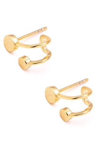 DOUBLE GOLD DISC EARRING | ANARCHY STREET Blu Spero online shopping