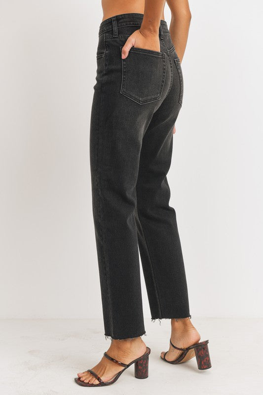 SMOKY EYE STRAIGHT LEG BLACK JEANS | Just Panmaco Inc.(Just USA) Blu Spero online shopping