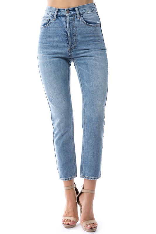 ALL THINGS HERE MEDIUM WASH DENIM