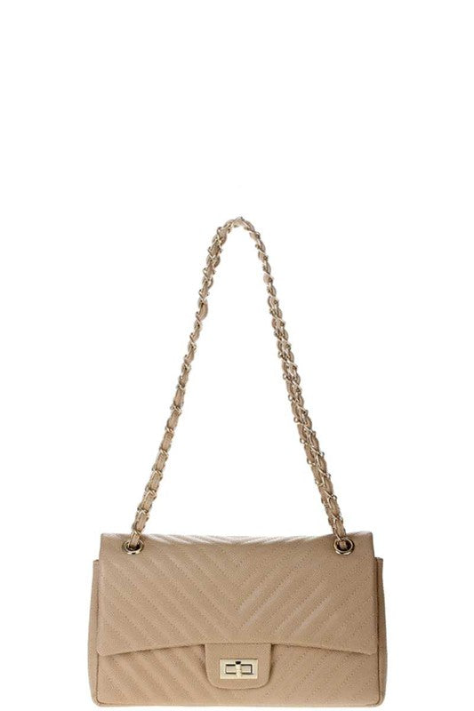 RECTANGLE FAUX LEATHER CROSSBODY