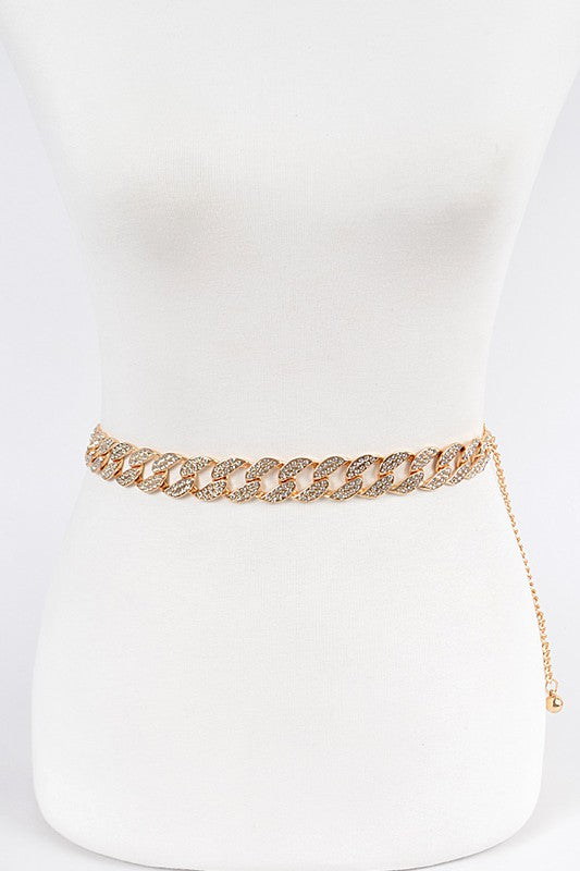 STONED OVERSIZED CHAIN BELT | ANZELL Blu Spero online shopping