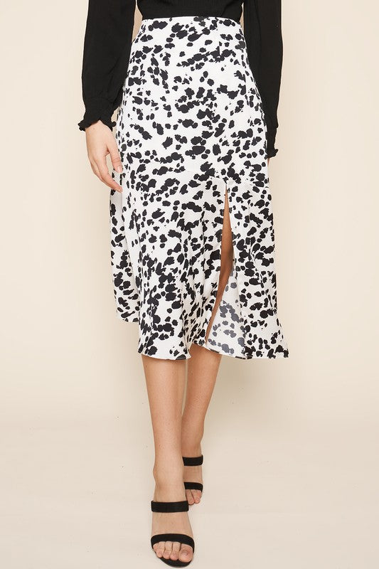 FOLLOW ALONG SPLATTER MIDI SKIRT | Sugar Lips Blu Spero online shopping
