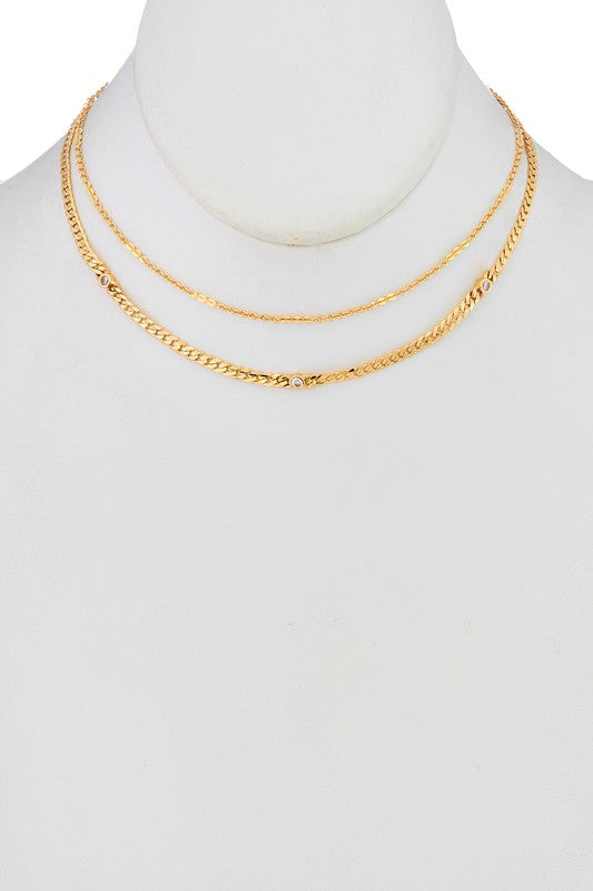GOLD LAYERED CHAIN CHOKER | GIRLY Blu Spero online shopping