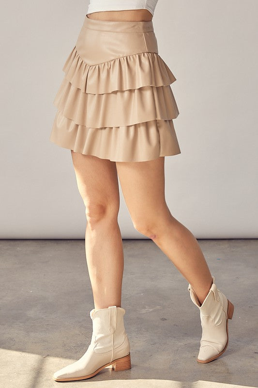 I LIKE IT TIERED MINI SKIRT | IDEM DITTO Blu Spero online shopping