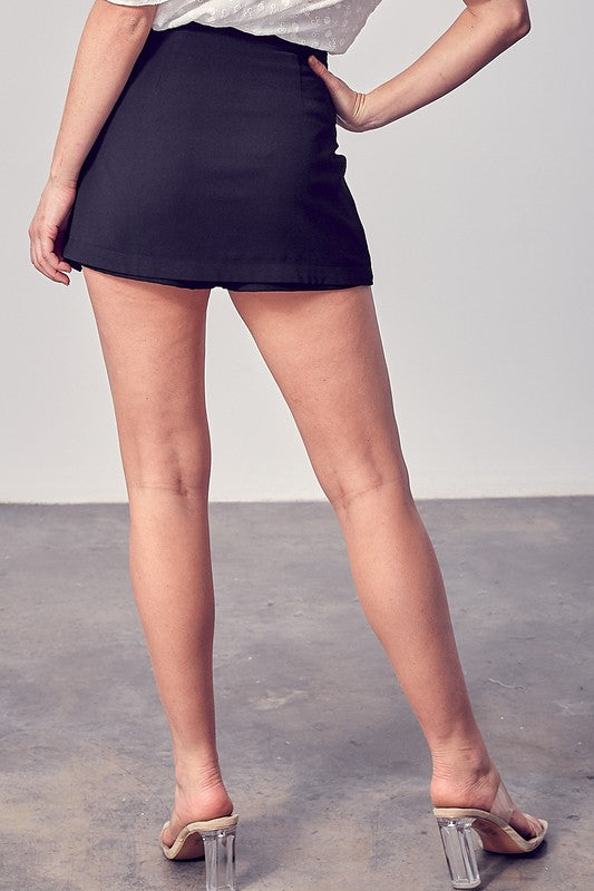 DOUBLE DIPPED FRONT TIE SKORT - 2 COLORS | DO + BE Blu Spero online shopping