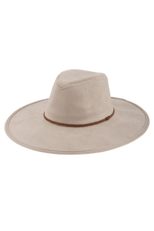 BRAIDED STRAP ACCENT SUEDE HAT | ICCO Blu Spero online shopping