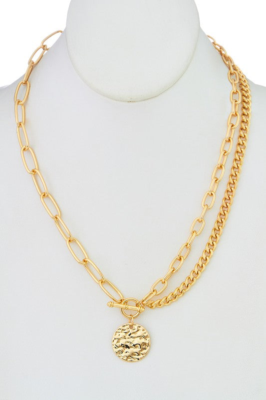CHAIN NECKLACE WITH HAMMERED PENDANTS | GIRLY Blu Spero online shopping