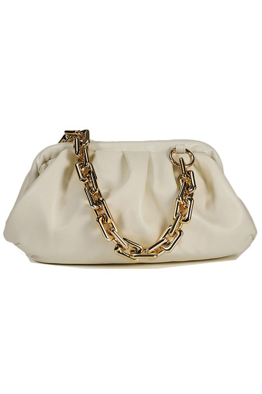 BIG CHAIN FASHION CLUTCH BAG - 3 COLORS
