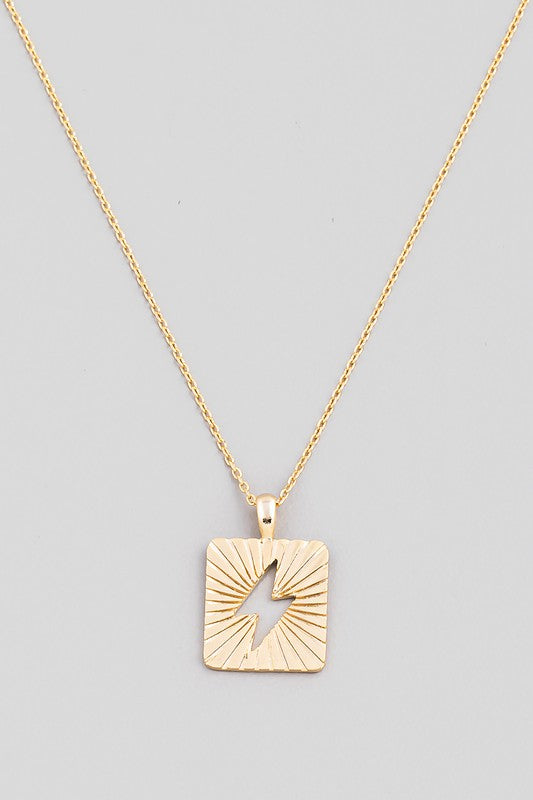 SQUARE LIGHTNING BOLT PENDANT