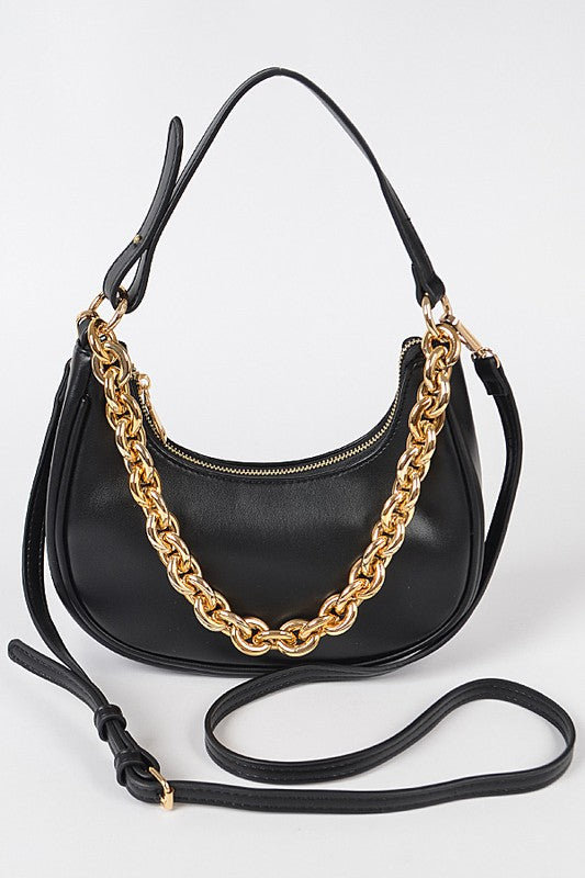 U-SHAPED SHOULDER HANDBAG