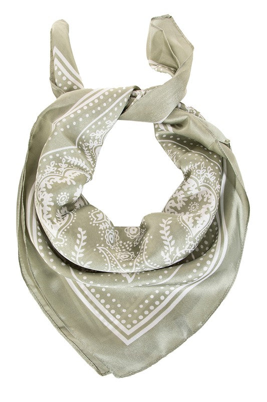 CHIC PAISLEY PRINTED SCARF