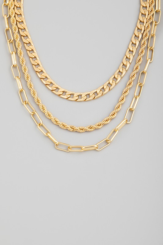 THREE PIECE MULTI CHAIN NECKLACE