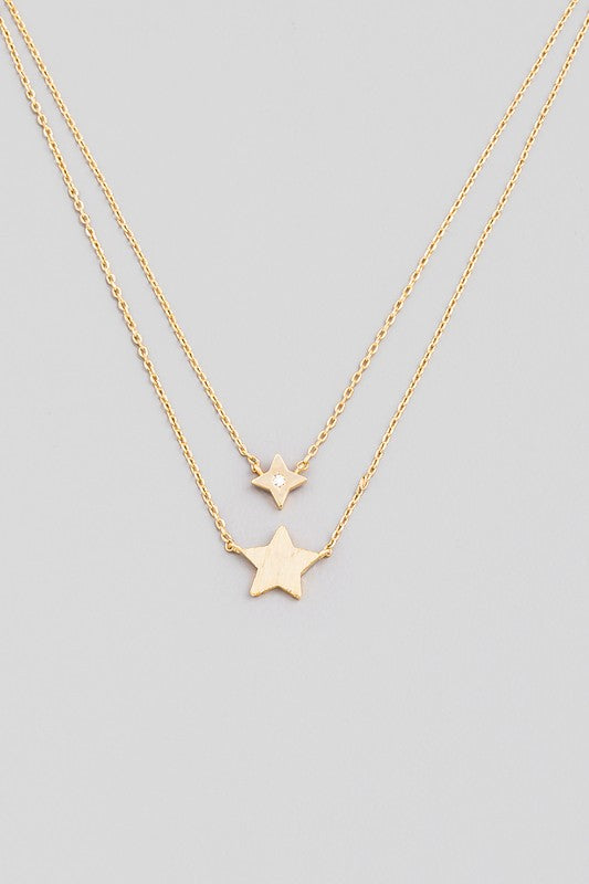 DAINTY LAYERED STAR NECKLACE