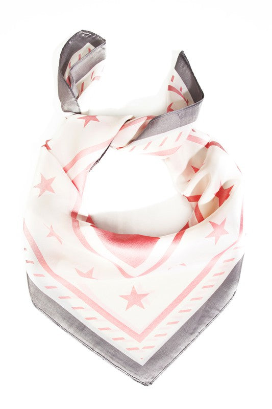 STAR STRIPE DESIGN HEAD SCARF- 2 COLORS