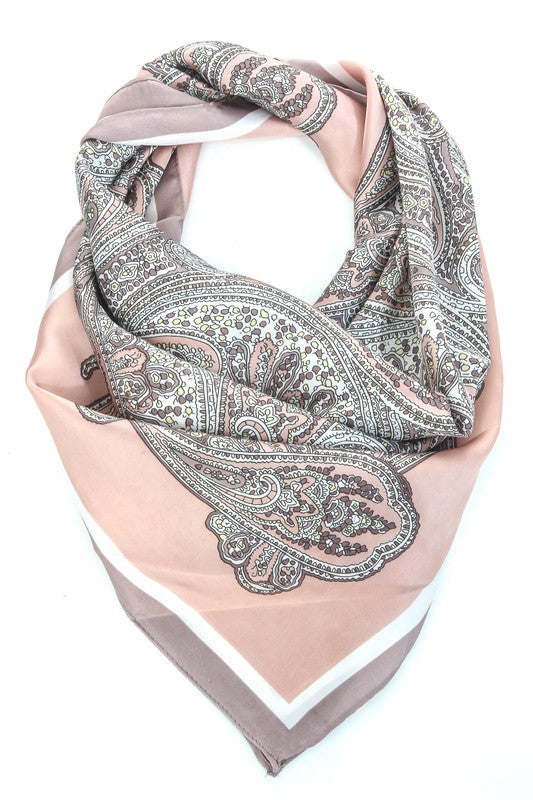 PAISLEY PATTERN HEAD SCARF - 2 COLORS