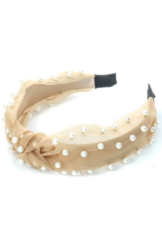 SHEER PEARL HEADBAND