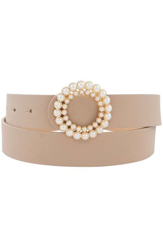 DOUBLE CIRCLE PEARL BELT - 2 COLORS