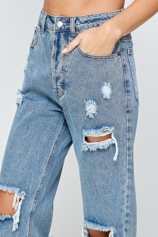 KING AND QUEEN STRAIGHT LEG DENIM