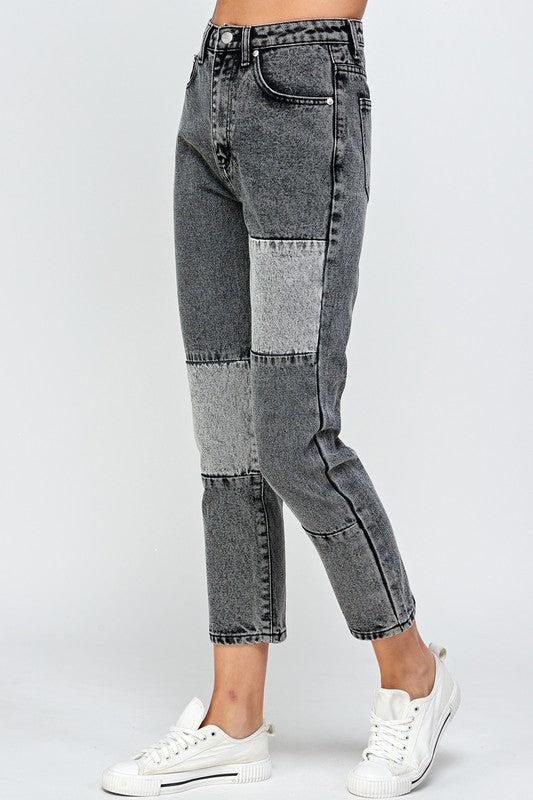 IDYLLIC PATCHWORK DENIM PANTS