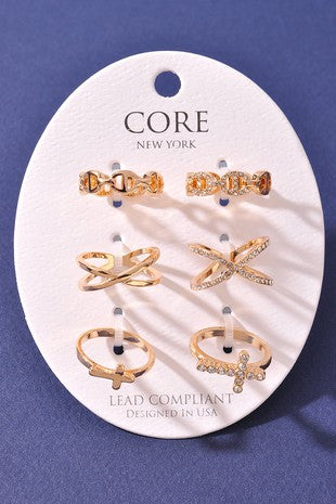 GOLD MIXED RING SET