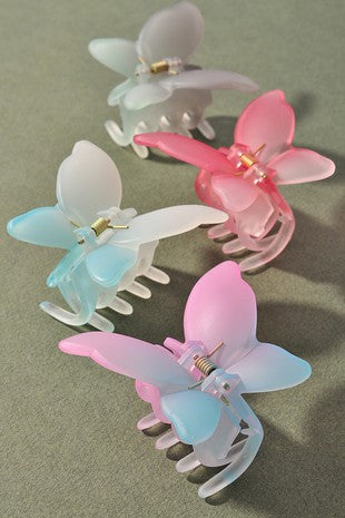 BUTTERFLY HAIR CLIPS - 3 COLORS
