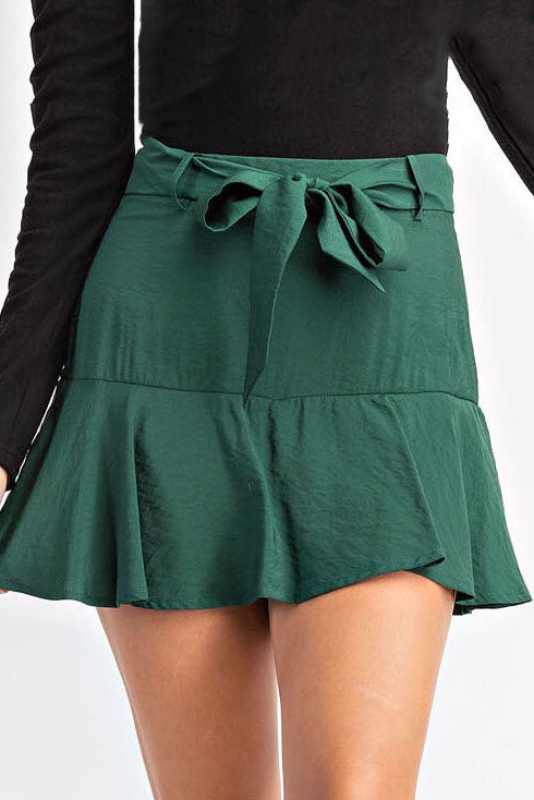 CHECKIN TIME GREEN SKIRT