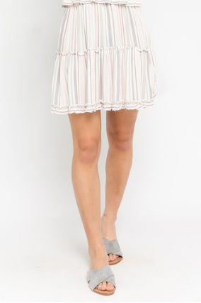 ARIZONA SKIES PASTEL MINI SKIRT | Olivaceous Blu Spero online shopping