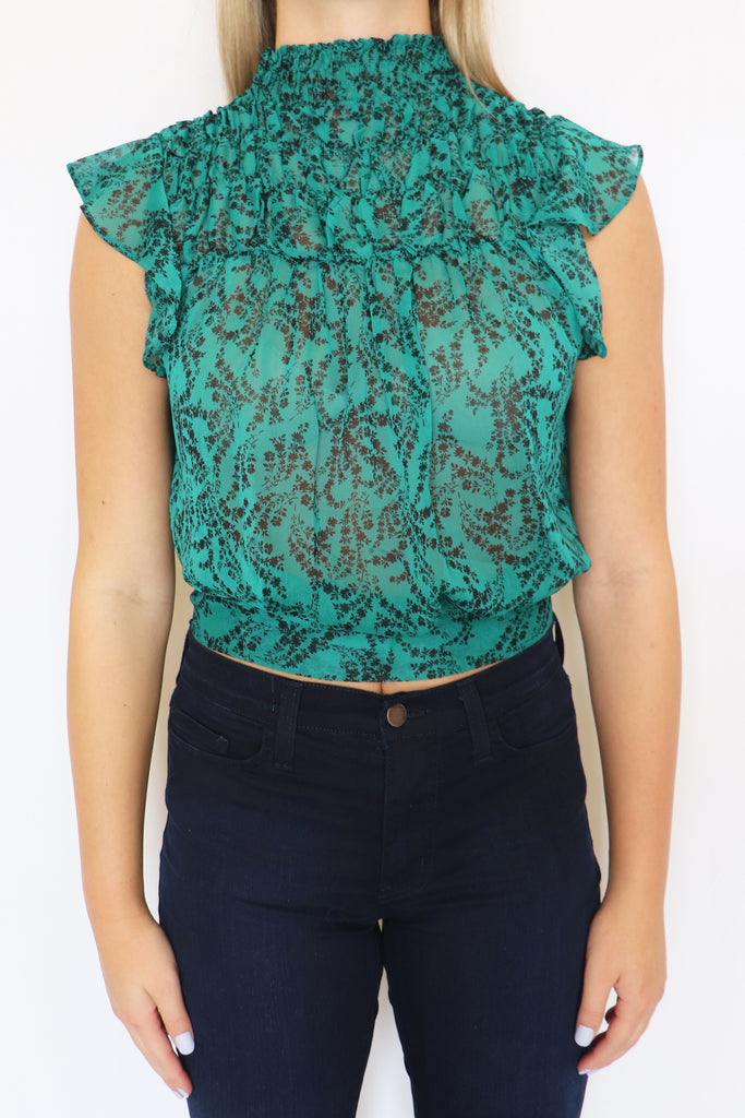 WORK HARDER TEAL TOP | Olivaceous Blu Spero online shopping