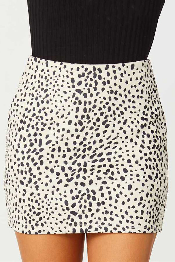 RACING NIGHT ANIMAL PRINT SKIRT