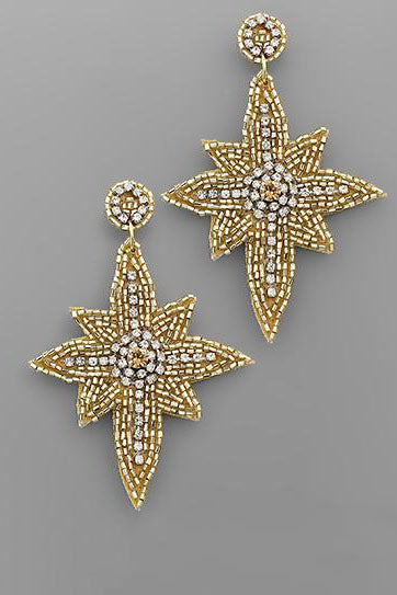 NORTHERN STAR BEAD EARRINGS | GOLDEN STELLA Blu Spero online shopping