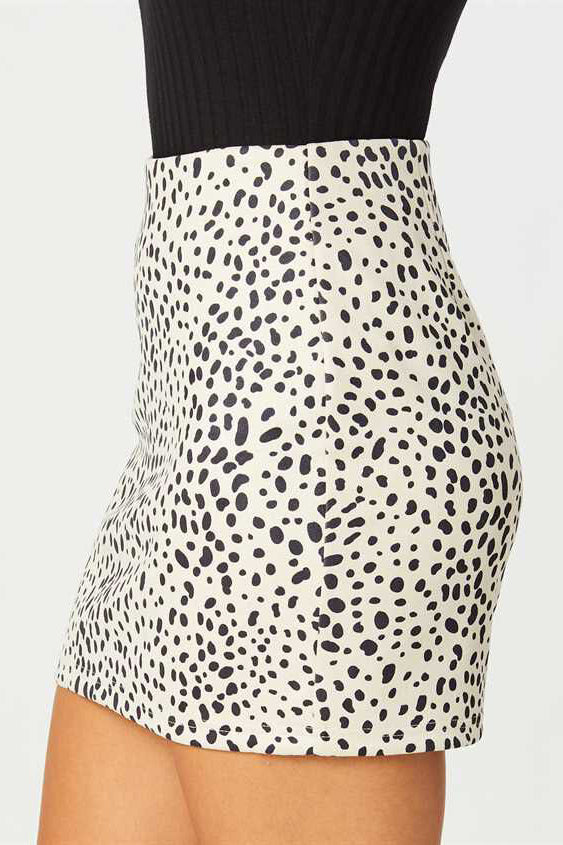 RACING NIGHT ANIMAL PRINT SKIRT | LE LIS Blu Spero online shopping