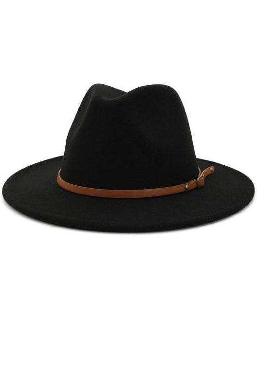 THIN BELT TRENDY HAT - 3 COLORS