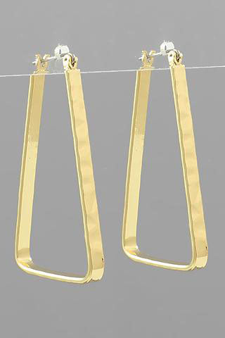 HAMMERED TRAPEZOID HOOP EARRING | GOLDEN STELLA Blu Spero online shopping