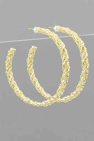 TEXTURE ROPE HOOPS | GOLDEN STELLA Blu Spero online shopping