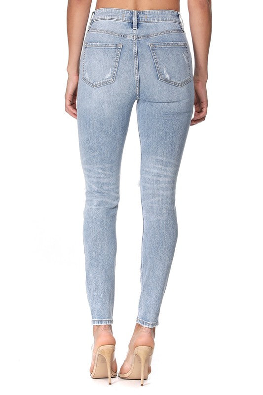 TRAVELING SKINNY DENIM | EUNINA Blu Spero online shopping