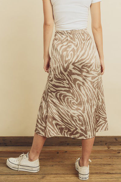 WON'T STOP TIGER PRINT MIDI SKIRT | DRESS FORUM Blu Spero online shopping