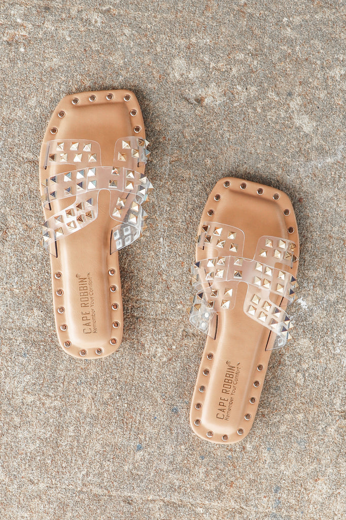 AMY EMBELLISHED SQUARE TOE SANDALS