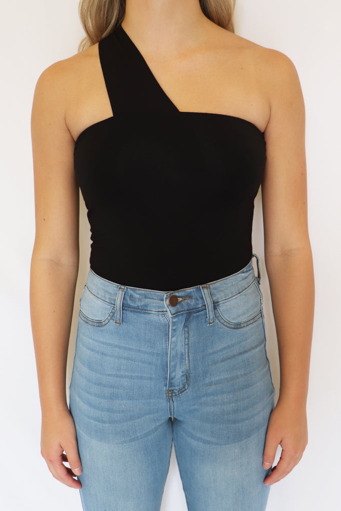 ABOUT ME ONE SHOULDER BODYSUIT | FINAL TOUCH Blu Spero online shopping