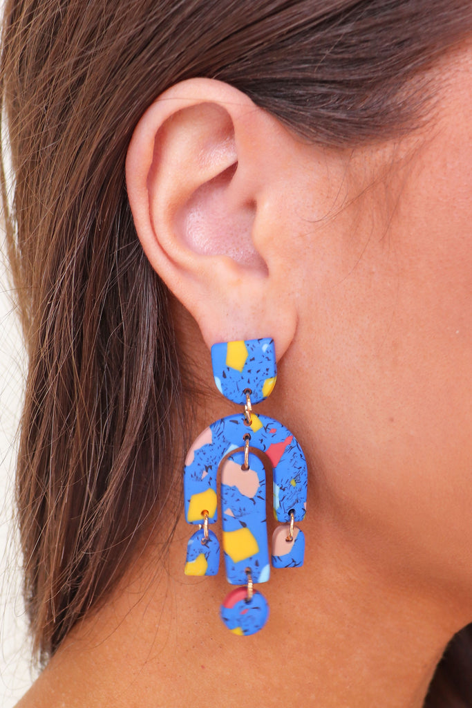 CLAY ARCH + BAR DROP EARRINGS