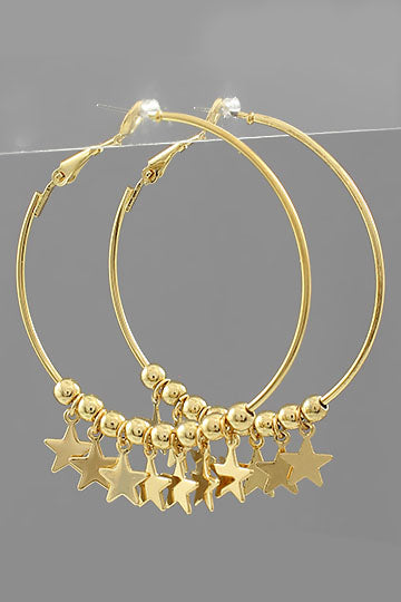 GOLD STARS & BEADED HOOPS