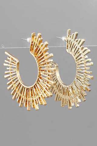GOLD SPIKED CIRCLE HOOPS