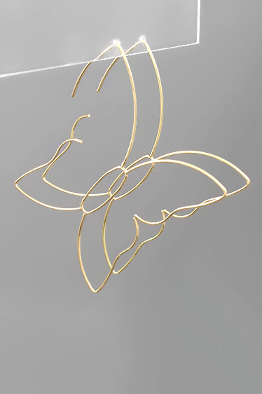 GOLD BUTTERFLY FRAME HOOPS
