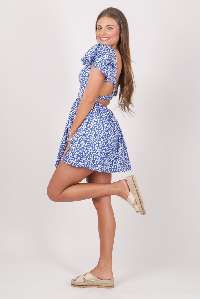 EVERYTHING'S GONNA BE ALRIGHT WHITE OFF-THE-SHOULDER SKATER DRESS