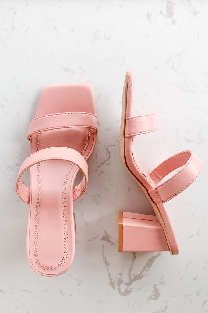 ASHLEY PINK BLOCK HEEL