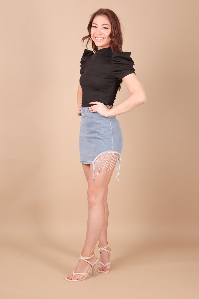 ALL ABOUT YOU GREY DENIM SKIRT