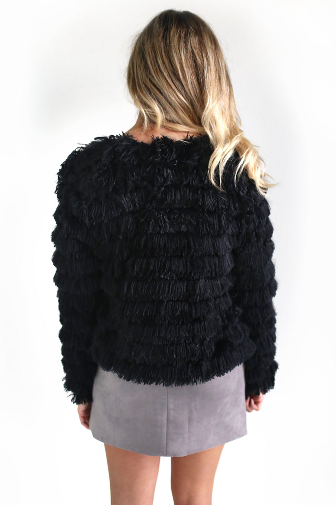 ALMOST FAMOUS FRINGE JACKET - 3 COLORS | SHE + SKY Blu Spero online shopping