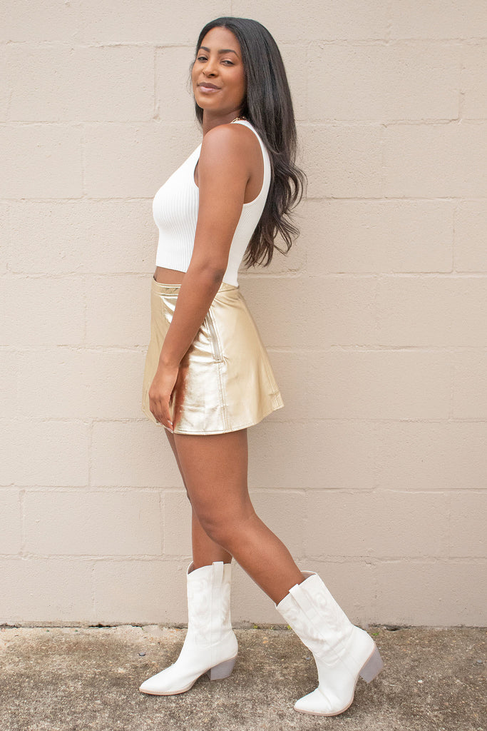 CASUAL AND COOL BEIGE MINI SKIRT