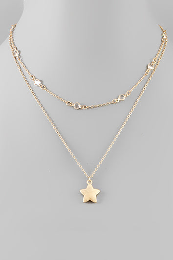 STAR PENDANT LAYER NECKLACE