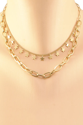 STAR & LINK NECKLACE